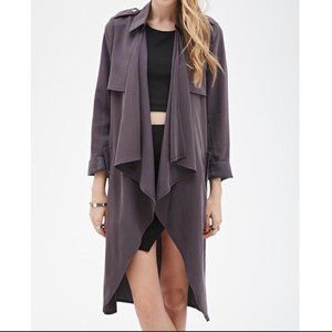 Forever 21 Charcoal Gray Duster Jacket!